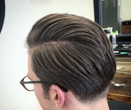Long Combed Back Hairstyle
