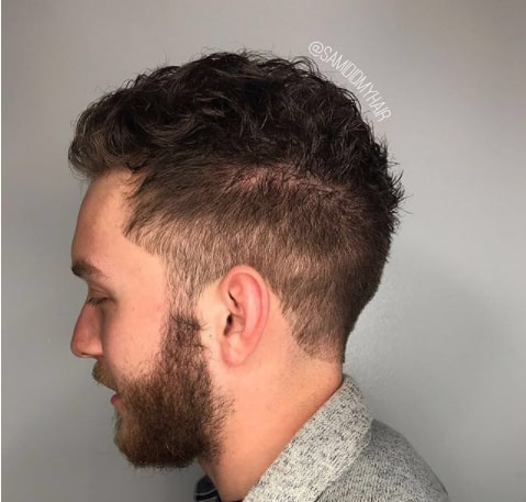 Messy Top With High Fade