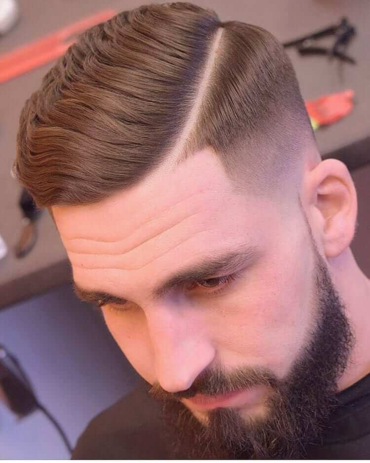 Hard Part -Top Charming Hairstyles For Men With Straight Hair