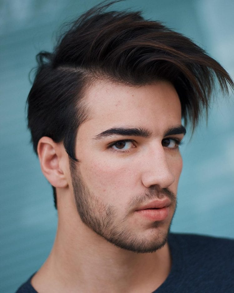 40d1f63638 ... this cool and unique variation of the side swept hairstyle that really  makes for one of most unique hairdos out there for men having square face  shapes.