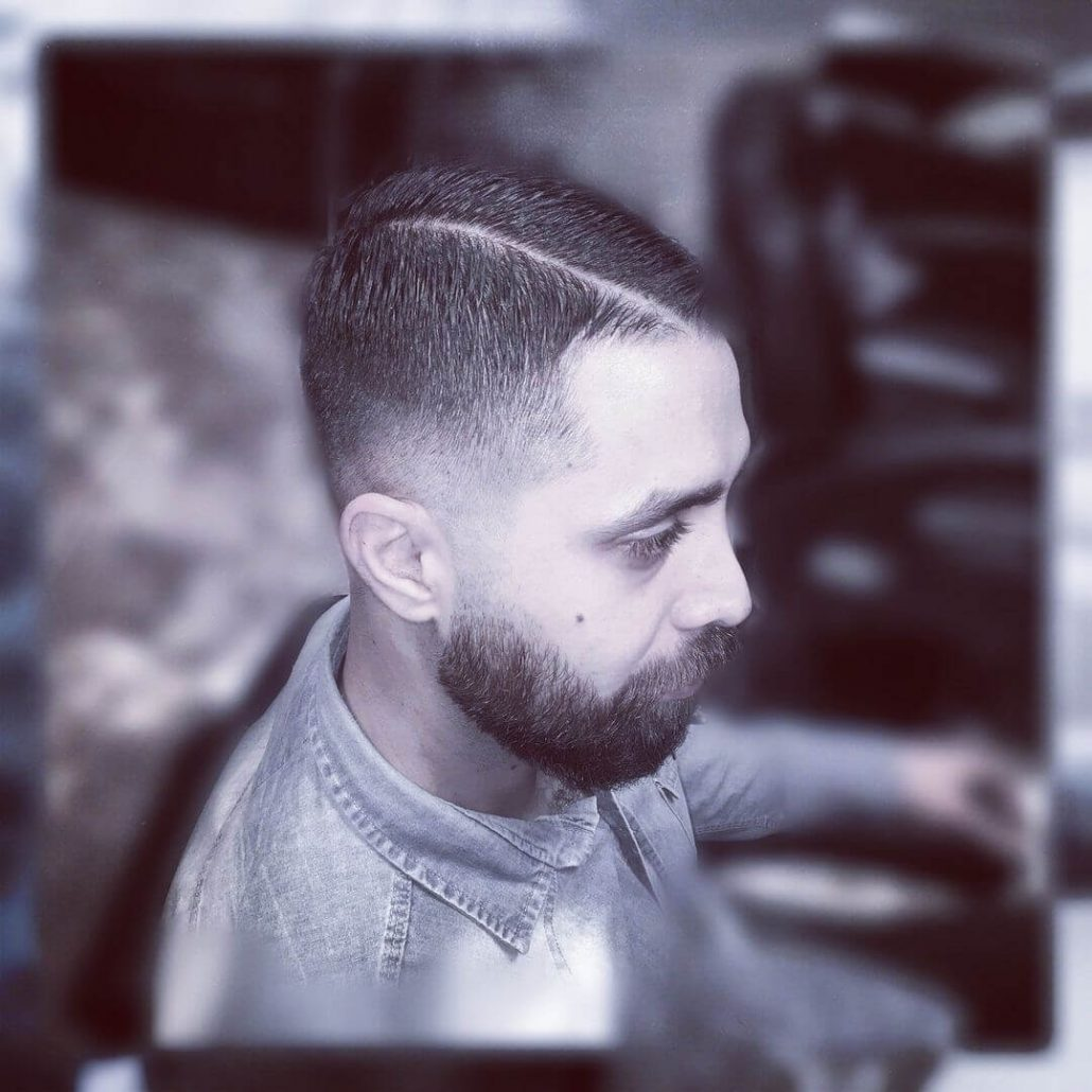 Buzz Cut With High Fade
